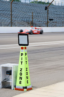 Race track pit zone sign