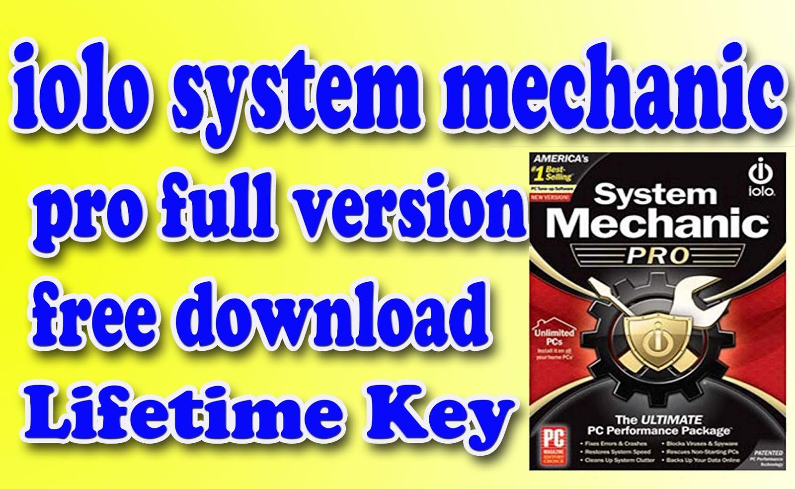 iolo system mechanic key