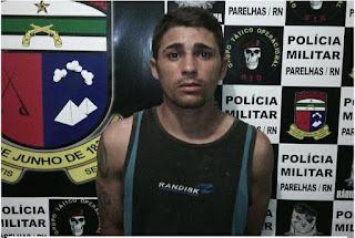 Polícia de Parelhas prende um dos acusados de assalto a Posto de Combustíveis em Carnaúba dos Dantas