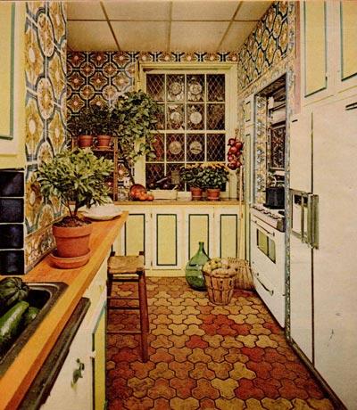 VintageVixen.com Vintage Clothing Blog: 1970s Kitchens and Kitsch- - 1970 Formica Kitchen
