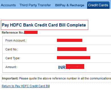 How To Pay HDFC Credit Card Bill Online Using Internet ...