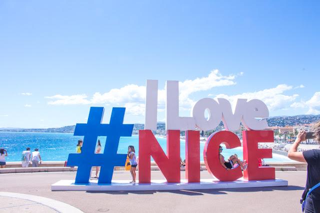I Love Nice sign - Quai Rauba Capeu
