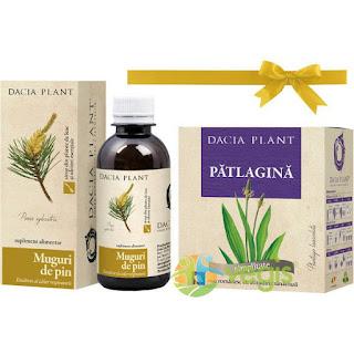 1+1 Gratis Sirop de muguri de pin + ceai de Patlagina set promotional