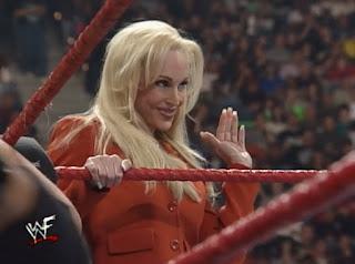 WWE / WWF St. Valentine's Day Massacre 1999 - IHY 27 - Debra accompanied Jeff Jarrett & Owen Hart in their match against D'Lo and Mark Henry