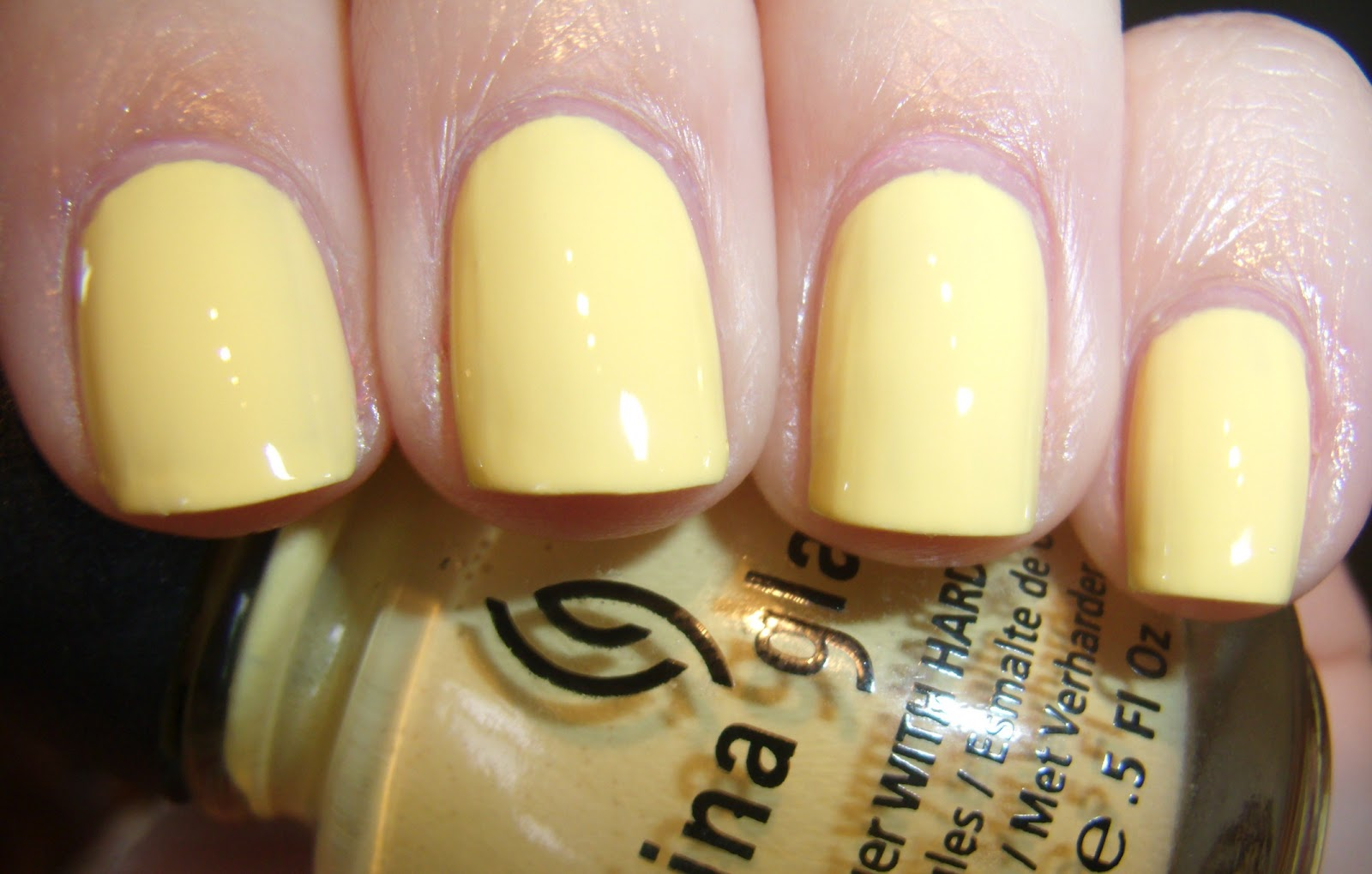 Lemon Yellow Nail Polish Creative Touch