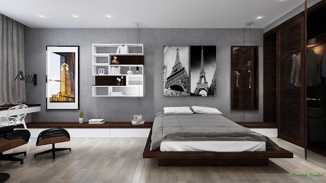 Phòng ngủ căn hộ 49m2 chung cư Riverside Garden