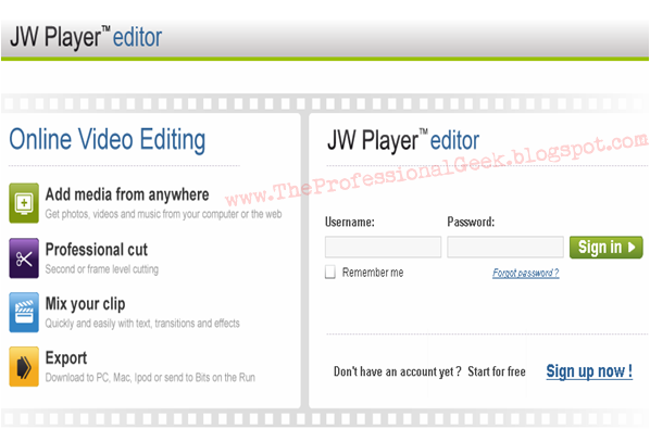 Online video editing jwplayereditor Edit Your Video montage