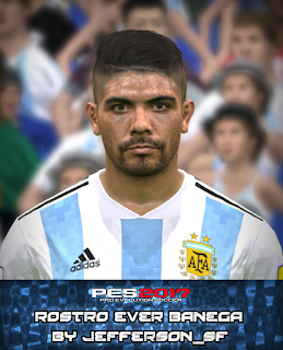 PES 2017 Faces Éver Banega by FaceEditor Jefferson_SF