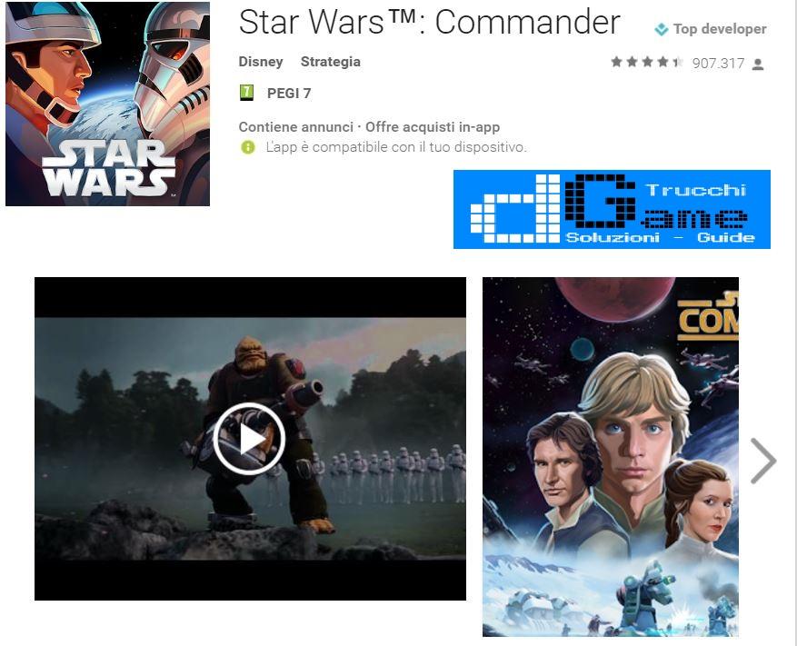 Trucchi Star Wars: Commander Mod Apk Android v4.8.0.9512