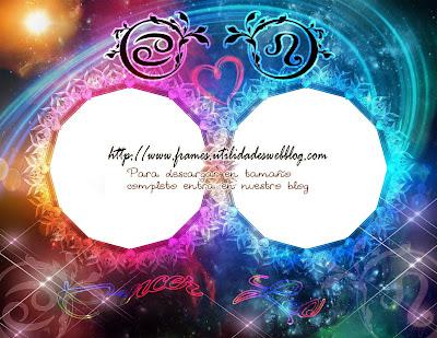 Marcos para fotos de enamorados del signo zodiacal Cancer y Leo