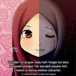 kartun islami gambar wanita muslimah cantik
