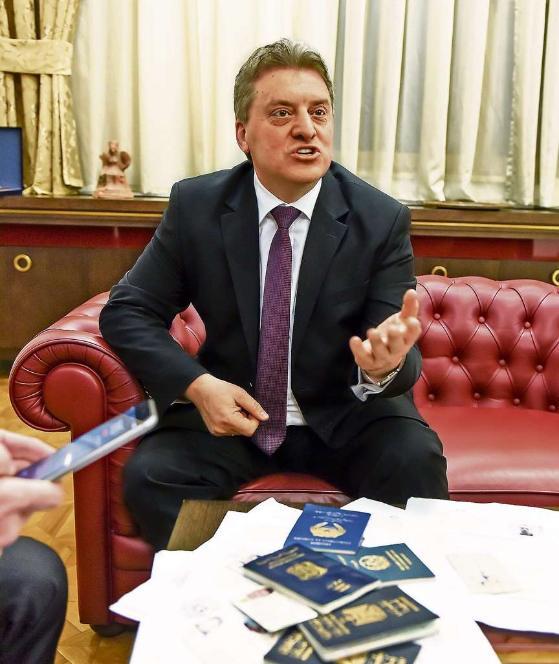Macedonian president settles a score here