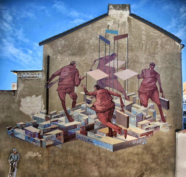 Street Art By Polish Artists Chazme and Sepe For CityLeaks 2013 in Germany. 1