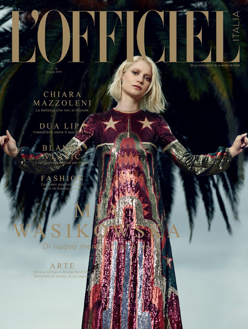 Actress, @ Mia Wasikowska by Naj Jamai for L'Officiel Italia, June 2016