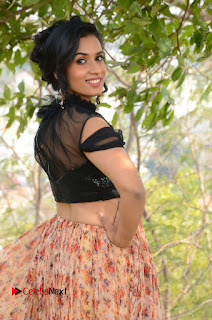 Actress Chetana Uttej Stills in Floral Long Skirt at Pichiga Nachav Movie Press Meet  0012.JPG