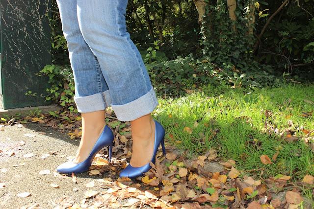 comment porter le jean au bureau, box octobre emma et chloé, escarpins minelli les petites bulles de ma vie