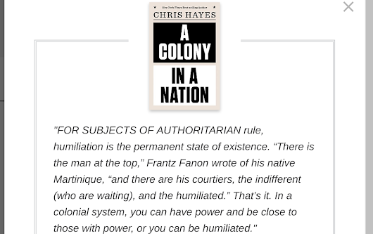 "Chris Hayes ""A Colony In A Nation"" Frantz Fanon and my awakening"