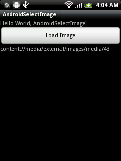 Select Image using Android build-in Gallery
