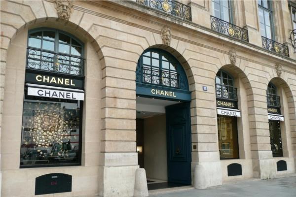 Loja Chanel na Champs-Élysées