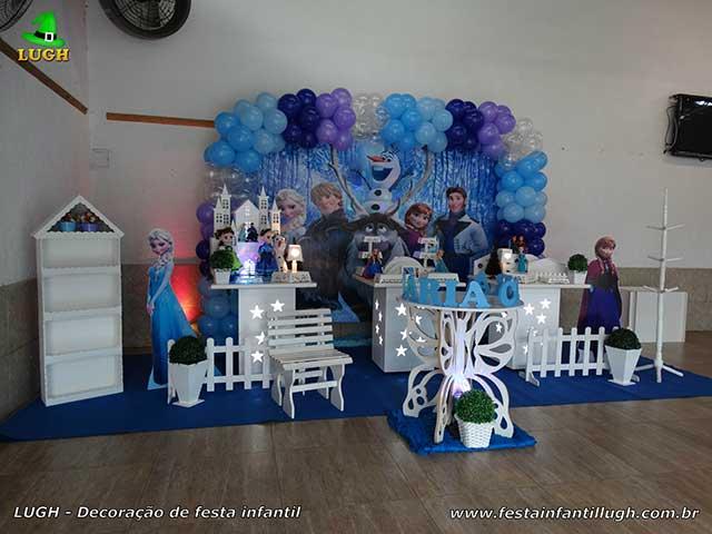 Decoração Frozen - Mesa provençal de aniversário