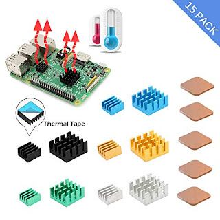 Dual Fan Cooling Raspberry Pi  Pure Aluminum Heatsink UK Raspberry Pi 3//2B 3B