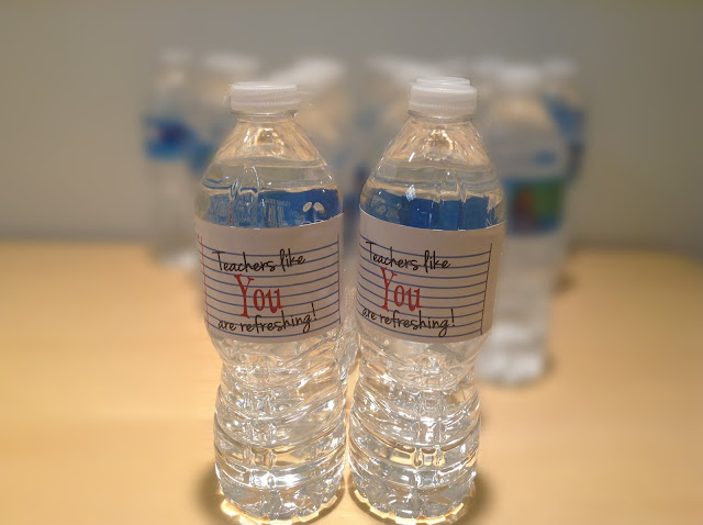 Water bottles for teachers - Teachers like you are refreshing!