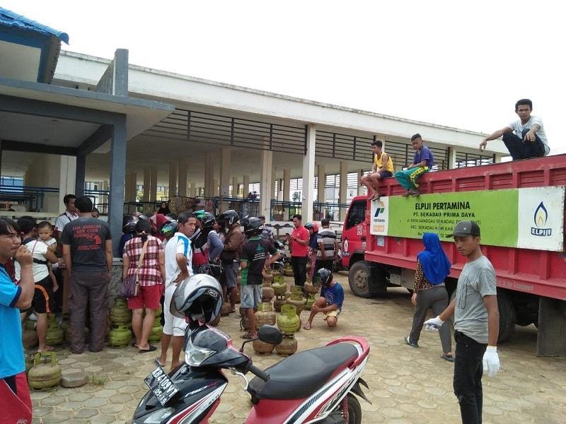 Jelang Ramadhan Pemkab Sekadau Gelar Operasi  Pasar Elpiji 3kg