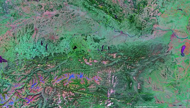 Gambar Peta Austria tampak dari satelit