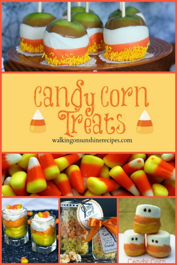 Candy Corn Treats featured on Walking on Sunshine Recipes.
