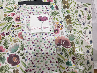 Frosted Floral DSP , Covered Notebooks, Blend Pens, Oh So Eclectic stamps