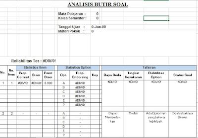 Aplikasi Analisis Soal Akurat Simpel