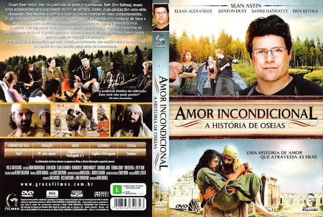 Capa DVD Amor Incondicional - A História de Oseias