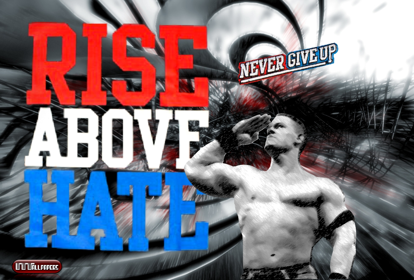 WWWallpapers / WWEWrestlingWallpapers Wallpapers, Fondos, WWE: John Cena Rise Above Hate Wallpaper