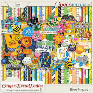 Creative Team, Annemarie, for GingerScraps -  August 2018 Free with Purchase – Bee Happy