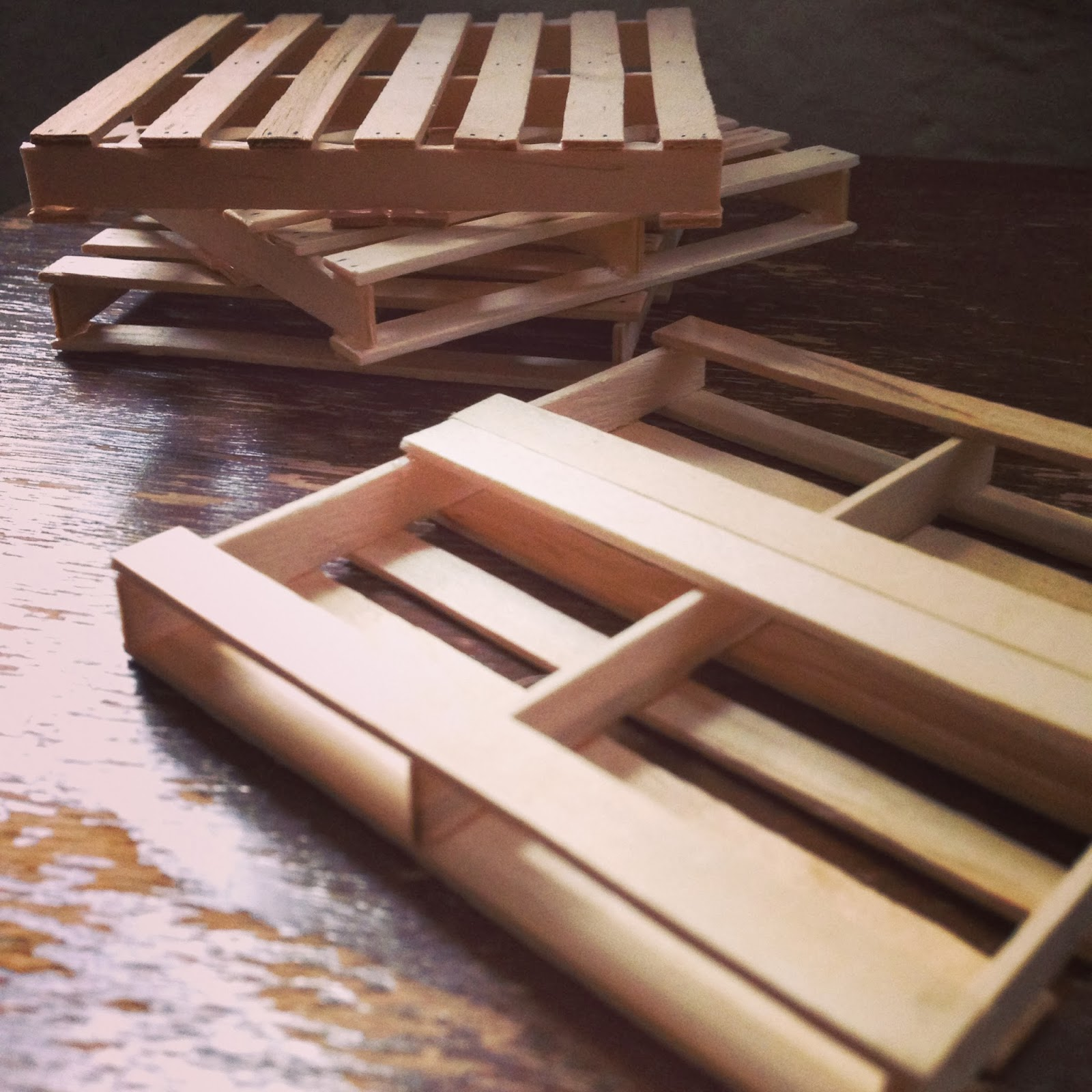 Crafty Lumberjacks: Popsicle Stick Pallet Coasters