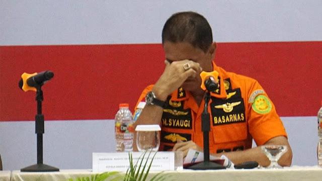 Kepala Basarnas Menangis: Saya Tak Menyerah Mencari Korban Lion Air