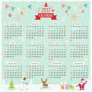 2017カレンダー無料テンプレート237