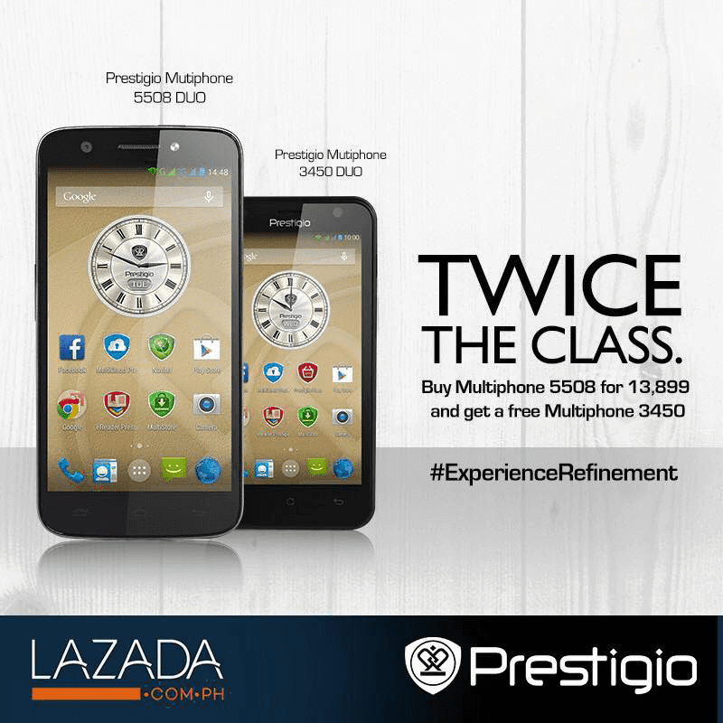 BUY PRESTIGIO MULTIPHONE 5508 DUO AND GET THE 3450 DUO FOR FREE!