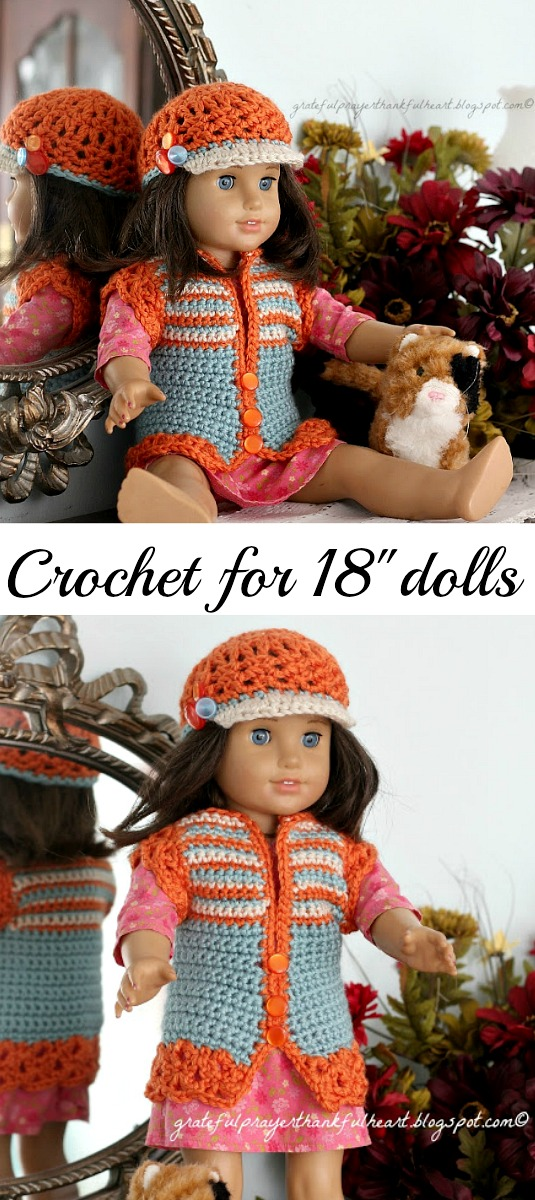 American Girl Crochet Pattern For Dolls Grateful Prayer Thankful