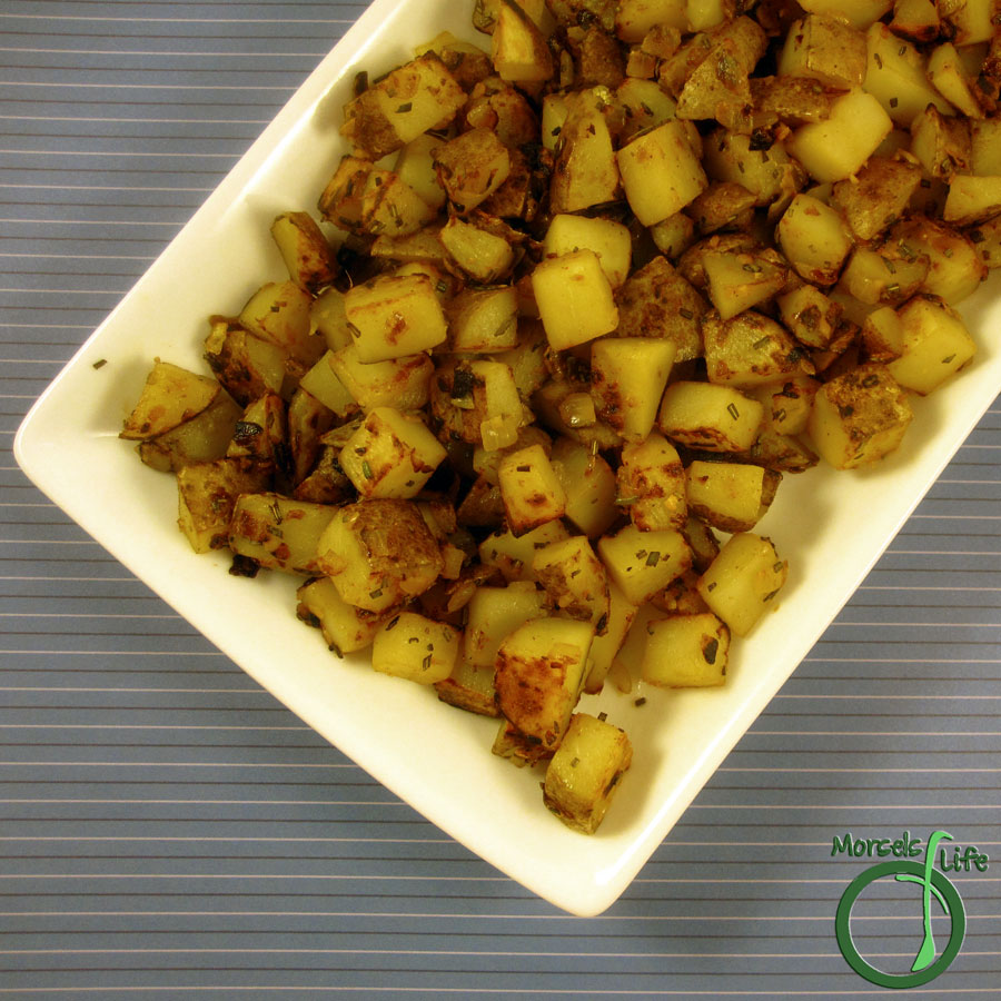 Morsels of Life - Rosemary Skillet Potatoes - Potatoes, flavored with rosemary, garlic, and onions, cooked to crispy perfection in a skillet.
