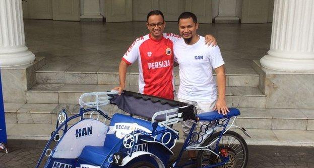 Anies Baswedan Sebut Jakarta Masih Butuh Becak