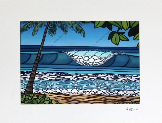 iconic surf art of pipeline by Heather brown north shore Oahu