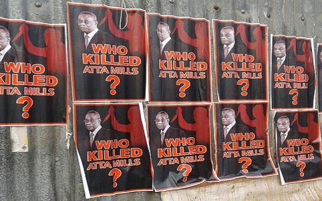 'Who killed Atta Mills' posters pop up at NDC's campaign launch