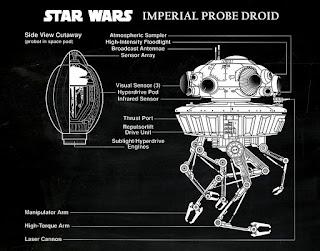 Starwars - blueprint Sonde impériale