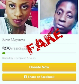 Fraudsters create fake #savemayowa go fund me account