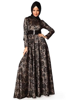 Baju Gamis Muslim Brokat
