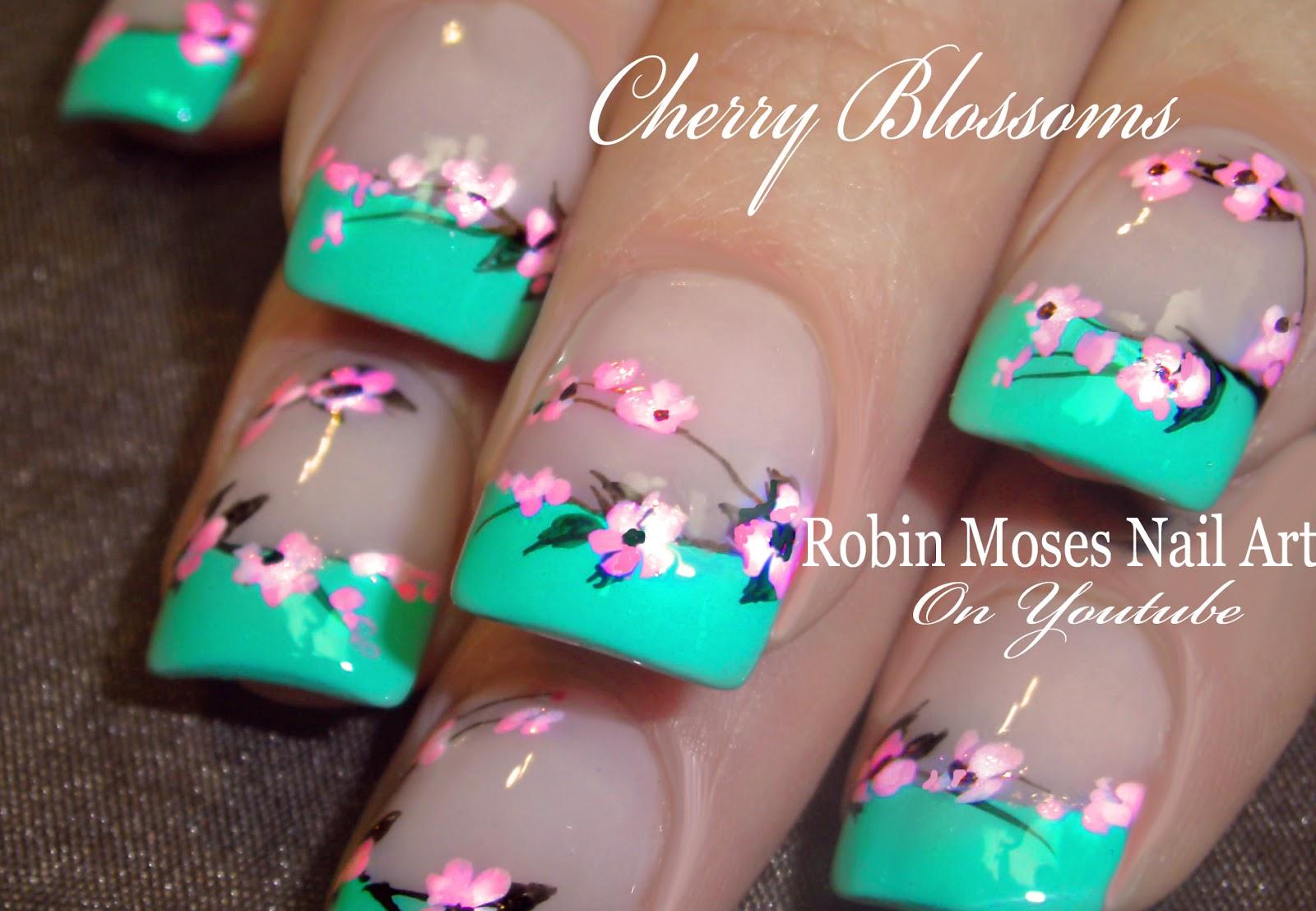 Cherryblossomsminttipspinkneonspringg springnails2018 spring nailart nails robinmoses springnaildesign spring2018 prinsesfo Choice Image