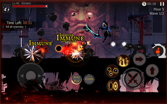 Download Shadow of Death Dark Knight Stickman Fighting MOD APK Terbaru