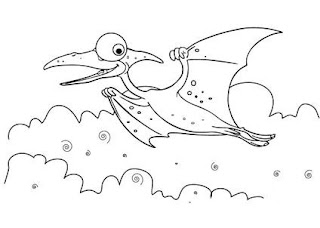 Cute Baby Pterosaurs Coloring Sheet