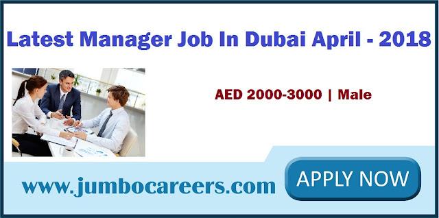 Manager Job In Dubai
